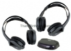 HSIR, 2 Infrared Cordless Headphones with Infrared Transmitt